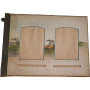 Vintage 19th Century Japanese Photo Album With Silk Hand Painted Pages