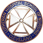 1960's 10K Yellow Gold Pin Lutheran Hospital School Of Nursing Cleveland