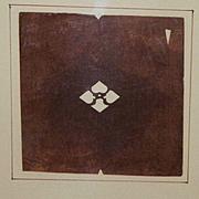 Taisho Period Japanese Katagami Coat Of Arms