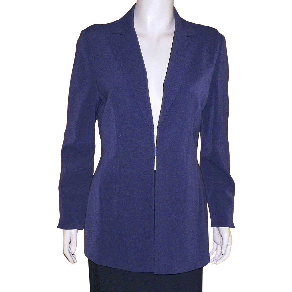 Vintage Philippe Adec France Slate Blue Jacket Size 8