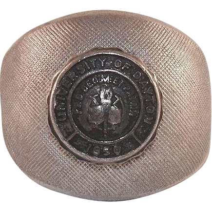Vintage University Of Dayton Sterling Class Ring