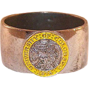 Vintage University Of Colorado Sterling Class Ring