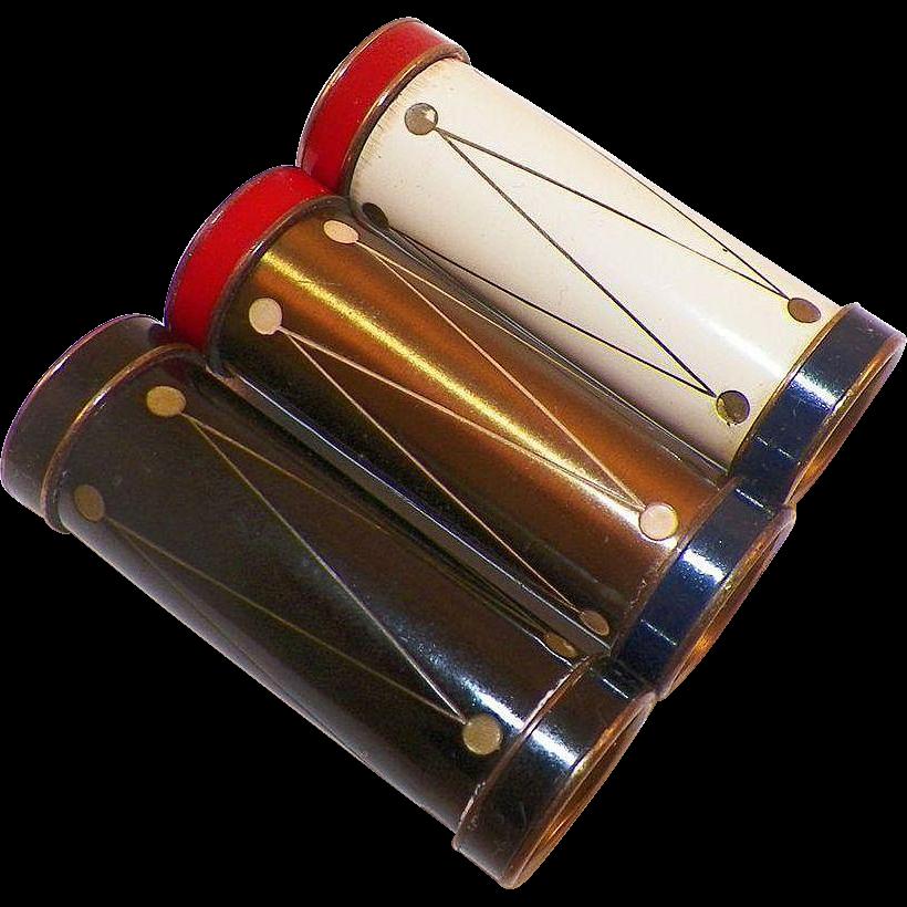 Group Of Three 1940's Lipsticks Chabert Drumstick