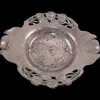 Art Nouveau German Orivit Pewter Bowl