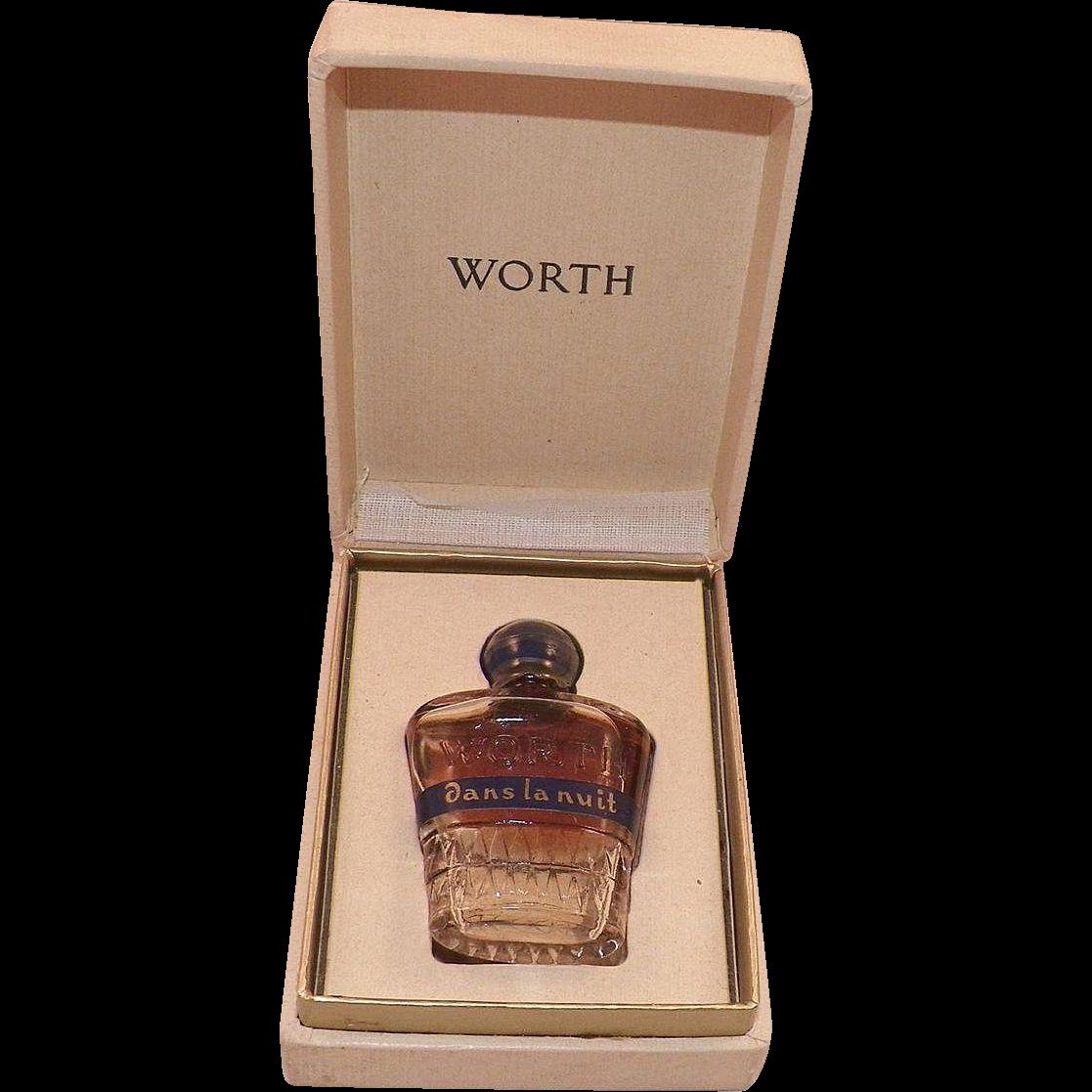 Vintage Worth Perfume Dans La Nuit With Original Box