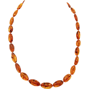 Vintage Baltic Honey Amber Beaded Necklace