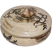 Old Chinese Or Japanese Pottery Covered Bowl