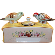 Occupied Japan Nodding Birds Salt and Pepper and Mustard Pot