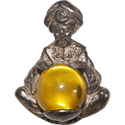 1940's Thief Of Bagdad Alexander Korda Crystal Gazer Pin