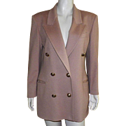 Vintage Classic Jaeger Of Great Britain Camel Hair Jacket Blazer 1980's