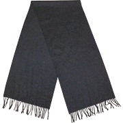 Luxurious Charcoal Gray Cashmere Scarf Made In Scotland