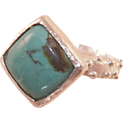 Artist Made Sterling Turquoise Ring