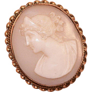 Victorian Gold-Filled Shell Cameo