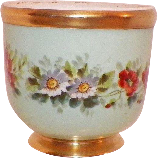Vista Alegre Portugal Floral and Gilt Flower Pot