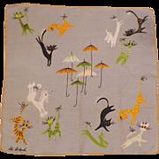Pat Prichard Hankie Raining Cats and Dogs