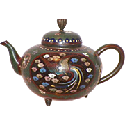 Japanese Cloisonne Small Teapot Meiji Period