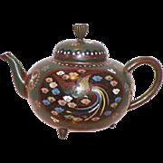 Japanese Cloisonne Small Teapot Meiji Period