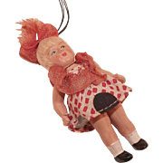 Vintage Miniature Celluloid Doll Ornament