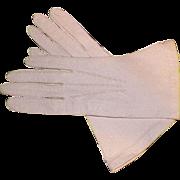 Vintage Mark Cross Off-White Pigskin Leather Ladies' Gloves