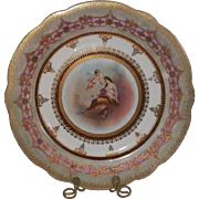 Royal Vienna Style Hand Painted Decorative Plate Beehive Mark