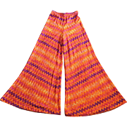 Vintage Missoni Rayon and Silk Palazzo Pants