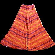 Vintage Missoni Rayon and Silk Palazzo Pants