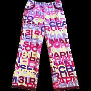 Vintage Chanel Logo Pants Size 42/8