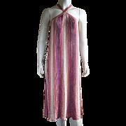 Vintage Missoni Tank Dress Linen Nylon Metallic Size M