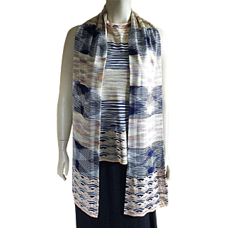 Vintage Missoni Sleeveless Top With Matching Scarf Size 14