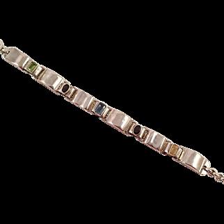 Sterling Bracelet With Semi-Precious Gemstones