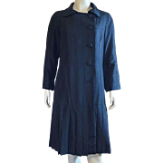 Lawrence Of London Black Silk Coat Weather Resistant