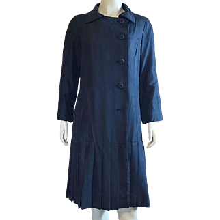 Lawrence Of London Black Silk Coat Weather Resistant