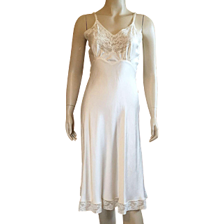 Vintage Fischer Heavenly Silk With Lace Full Slip