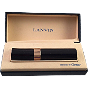 Vintage Lanvin Perfume Mist Container Designed By Cartier In Presentation Box