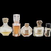 Lot Of Five Mini Perfume Bottles