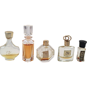 Lot Of Five Mini Perfume Bottles