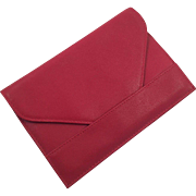 Red Leather Wallet / Document Holder