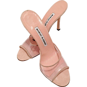 Manolo Blahnik Baby Pink Shoes / Mules Never Worn Size 37 1/2
