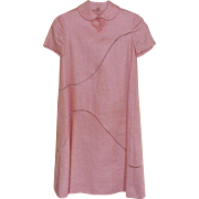 1970's Peach Linen Bill Blass A-Line Dress Size 4