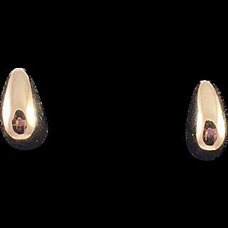 14K Yellow Gold Lackey Pierced Earrings
