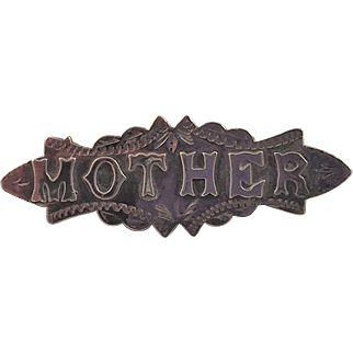Antique English Victorian Sterling Mother Pin
