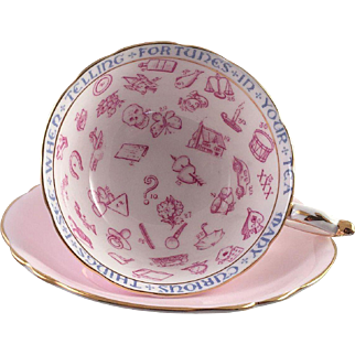 Paragon Fortune Teller Tea Cup and Saucer 1930's