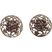 Two Victorian French Steel Cut Buttons