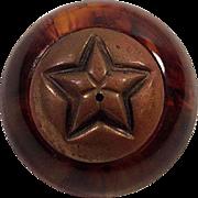 Vintage Root Beer Rootbeer Bakelite and Brass Pin