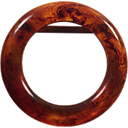 Rootbeer Root Beer Bakelite Belt Buckle