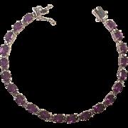 Sterling and Amethyst Tennis Bracelet