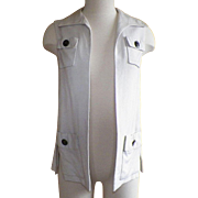 Vintage 1970's Malcolm Starr Vest Designed By Rizkallah