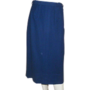 1950's Dalton Navy Blue Wool Pencil Skirt
