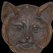 Vintage Metal Cat Face Dish