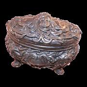 Vintage Art Nouveau Jewelry Casket Trinket Box - Red Tag Sale Item